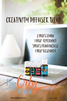 Spark and Inspire Creativity with this diffusing blend using Peppermint, Lemon, Frankincense, rosemary. All Young living starter kit oils. byoilydesign.com YL member # 3177383