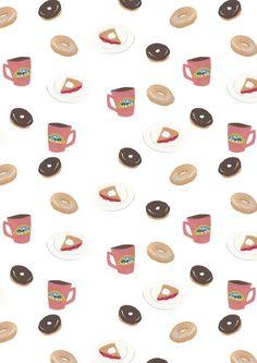 Twin Peaks Diet Pattern Art Print