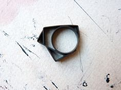 Items similar to RING sterling silver contemporary jewelry geometric - Angular Collection on Etsy Geometric Jewelry, Diamond Are A Girls Best Friend, Metal Jewelry, Sterling Silver Rings, Objects, Diamonds, Jewellery, Jewels, Contemporary