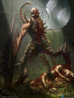 Artist: Vlad Marica aka Vlad MRK - Title: Sewers creature - Card: Unknown