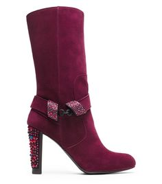 Stuart Weitzman LOCKET boot in Bordeaux suede