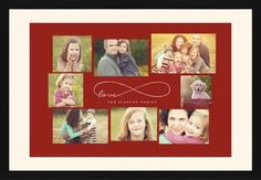 Love Infinity Framed Print, Black, Contemporary, Cream, Cream, Single piece, 20 x 30 inches, Red