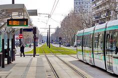 Paris le Tramway T3b Porte de Bagnolet 1