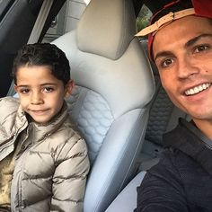 Pin for Later: 15 Times Cristiano Ronaldo and His Son, Cristiano Jr., Were Total Twins When They Were Too Cool in the Car