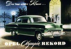 """Als """"Star seiner Klasse"""" bewarb Opel ihn in den 50er-Jahren. Insgesamt wurden 586.872 Exemplare des Olympia Rekord verkauft."""