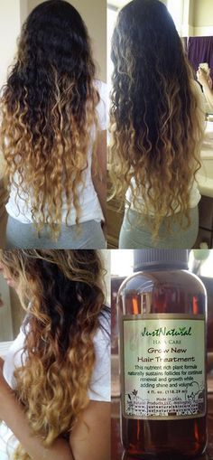 """This """"grow new hair treatment"""" works very well, and smells terrific. I have been using the product for over three months now and my hair grows dramatically, seems to be totally speed growing! Natural Hair Care, Natural Hair Styles, Healthy Hair Growth, Tips Belleza, Hair Health, Grow Hair, Looks Style, Up Girl, About Hair"""