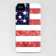 American flag iPhone Case by Nicklas Gustafsson - $35.00
