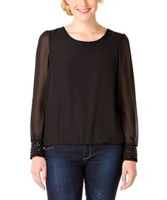 Take a look at this Black Ombeline Top by Yest on #zulily today!