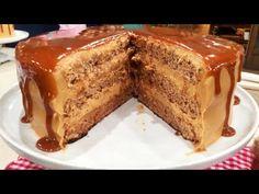 Torta de dulce de leche y nuez cubierta con dulce de leche - Recetas – Cocineros Argentinos