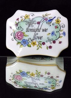 "Vintage ""Tonight We Love"" Franklin Mint Melodies of Love Music Trinket Box"