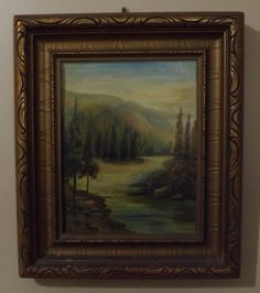 Oil on Board Signed M. Robson