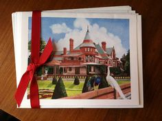 Notecards from painting of Sonnenberg Gardens by MaryRileyFineArt