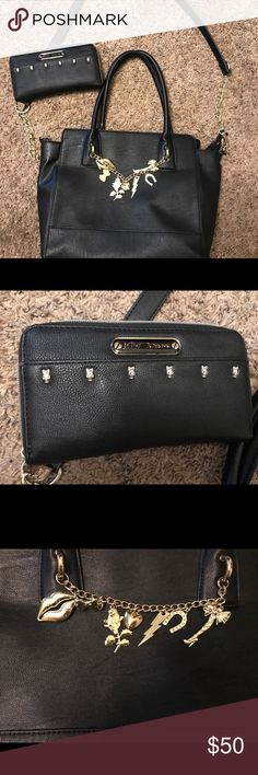 Betsey Johnson tote Black medium sized tote bag. Gently used. Excellent condition Bags Totes