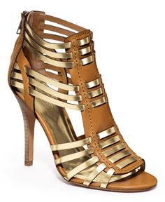 COACH LUCY HEEL - Sandals - Gold & Tan - Shoes - Macys ... seen in May 2013 Lucky Mag