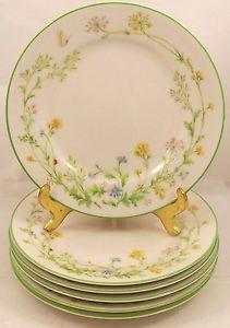 6-Noritake-Ivory-China-Reverie-7191-Wildflowers-Bread-Plates-10-1-2