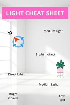 Light levels for plants. How much light does my houseplant needs and what is the difference between direct and indirect light? Light levels for plants explained. Indoor Plant Lights, Plant Lighting, Inside Plants, Plant Guide, House Plant Care, House Plants Decor, Interior Plants, Different Plants, Hanging Plants