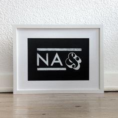 """Typo Print """"Na und"""" by YEAHHamburg via dawanda.com"""