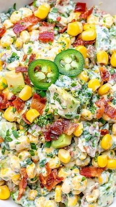 Healthy Desserts, Healthy Recipes, Dip Recipes, Pea Salad With Bacon, Corn Avocado Salad, Broccoli Salad, Weight Loss Meal Plan, Clean Eating, Healthy Eating