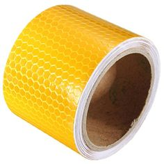 KING DO WAY 3m DIY Yellow Car Reflective Self-adhesive Safety Warning Conspicuity Night Reflective Strip Tape Film Sticker
