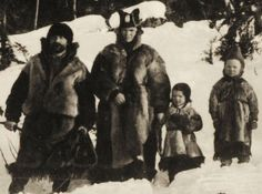 Swedish Sami Nomad family late 1800eds