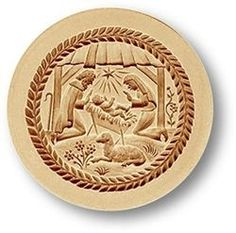 Nativity springerle cookie mold