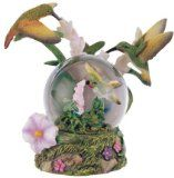 Snow Globe Hummingbird Collection Desk Figurine Decoration