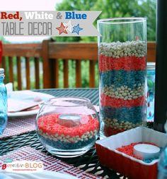 EASY Red, White & Blue Patriotic Decor | TodaysCreativeBlog.net