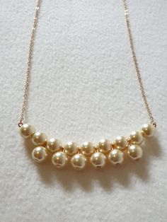 Items similar to Pearl Bridal Necklace Bridesmaid Necklace Maid of Honor Jewelry Mother of Bride NecklaceWedding Gift Gift For Her Christmas Gift on Etsy Bead Jewellery, Pearl Jewelry, Wedding Jewelry, Beaded Jewelry, Jewelery, Cartier Jewelry, Pearl Necklaces, Boho Jewelry, Bride Necklace