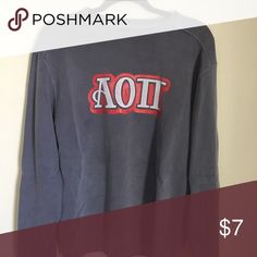 alpha omicron pi sweatshirt cute purple/grey/blue colored sweater. super comfy and vintage looking alpha omicron pi Sweaters