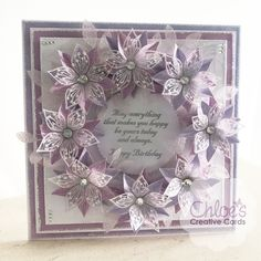 Chloes Creative Cards Craft, Cardmaking and Papercraft Supplies Birthday Card Sayings, Birthday Cards For Women, Handmade Birthday Cards, Handmade Cards, Spellbinders Cards, Stampin Up Cards, Chloes Creative Cards, Stamps By Chloe, Mothers Day Cards