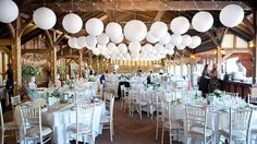 Paperlanterns, lampionnen, wedding, trouwen, decoratie, romantisch, diner, decoration, white paper lantern