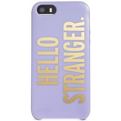 kate spade new york Hello Stranger iPhone 5 Resin Case ($30) ❤ liked on Polyvore featuring accessories, tech accessories, phone cases, phones, cases, electronics, fox glove and kate spade