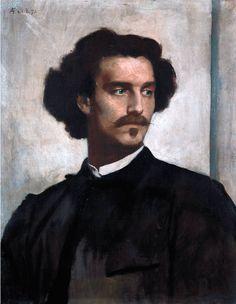 Anselm Feuerbach (1829-1880) • Selbstbildnis, 1873