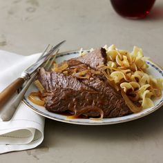 A few hours in the slow cooker and this beef dish will be melt-in-your-mouth delicious by the time you're ready to eat it.  Recipe Tips from F&W...