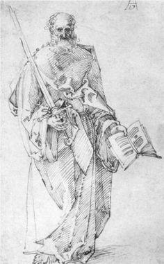 Paul - Albrecht Durer - Durer, you talented punk. Albrecht Dürer, Jan Van Eyck, Salon Art, Hieronymus Bosch, Oil Painting Reproductions, Italian Artist, Old Master, Caravaggio, Line Drawing