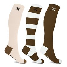 If you suffer from sore and achy feet, we've might just have the solution to help soothe and re-energize them. The sole purpose of these compression socks is to revive your tired feet and legs using advanced compression technology. As well as aiming to reduce swelling and increase blood circulation, they carry anti-microbial properties that are designed to naturally banish nasty smells and fungus. So go on, pull your socks up and grab your pairs. Highlights  Help revive achy feet with a pair…