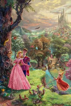 Gorgeous sleeping beauty painting