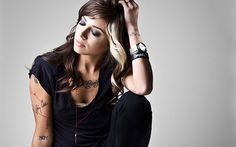 I'm so going to do this!!! with the blonde and maybe a little in the bangs too. ugh love Christina Perri!!