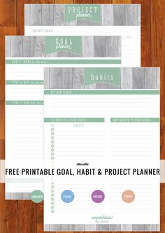 So what are your goals for this month? Got any habits that need breaking? Projects on the go? Free Printable Home Organizer - Goal, Habit & Project Planner