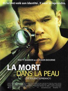 La mort dans la peau (The Bourne supremacy) avec Matt Damon. Souffrant d'amnésie, Bourne a laissé derrière lui son passé violent et mène désormais une vie tranquille avec sa compagne Marie. Malheureusement, ses projets de vie paisible se trouvent sérieusement compromis quand un tueur mystérieux retrouve leur trace. Mais Bourne est loin d'être une cible facile et ses ennemis vont vite comprendre qu'il est un homme dont les facultés et la détermination ne doivent pas être sous-estimées.