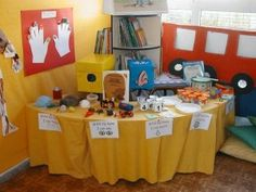 Create a 'My Senses' Table in your classroom. A great way to encourage exploration of our world, through the senses.