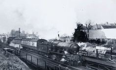 The last days of steam. Passing through Holland Road halt (soon to be closed). Period late 1950's