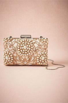 product | Golden Pearl Clutch from BHLDN
