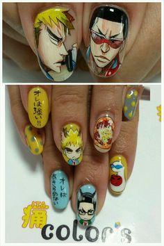 弱虫ペダル(Yowamushi pedal) : Character nail art