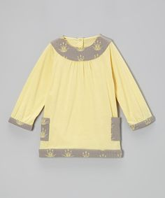 Take a look at this Golden Organic Yoke Top - Infant, Toddler & Girls by kate quinn organics on #zulily today!