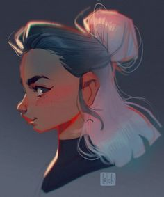 Result of my live demonstration in Finland two weeks ago! I sketched a head and … - Art Character Design Animation, Character Art, Art Sketches, Art Drawings, Loish, Drawn Art, Digital Art Tutorial, Art And Illustration, Beautiful Drawings