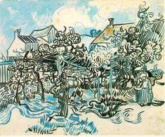 「ぶどう畑と農婦」1890  43.5 x 54 cm  ファン・ゴッホ美術館 アムステルダム