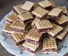 Rezept Waffel mit Schokolade - schmeckt wie Hanuta von Jagga - Rezept der Kategorie Backen süß