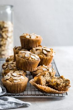 This poppy seed almond flour muffin recipe uses oat flour for a healthy gluten-free muffin base that can be easily adapted with or without peaches! Healthy Muffin Recipes, Quick Bread Recipes, Healthy Muffins, Baking Recipes, Sweet Recipes, Paleo Dessert, Vegan Desserts, Dessert Recipes, Almond Flour Muffins