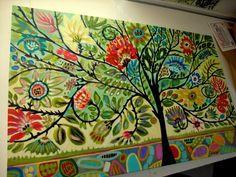 bohemian inspired artwork | Bohemian Tree of Life Painting